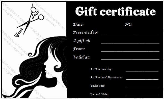 Hair Salon Gift Certificate Luxury Gift Voucher Templates Gift Certificate Templates