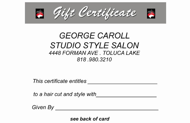Hair Salon Gift Certificate Luxury thesalonguy Hair Blog He Knows Salons Salon Gift Certificate Promotions