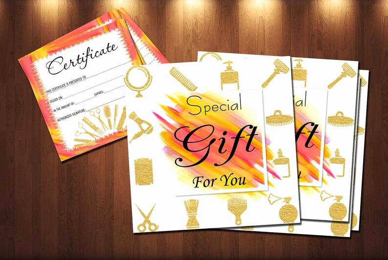 Hair Salon Gift Certificate Template Best Of Hair Stylist Gift Certificate Template Salon Beauty T
