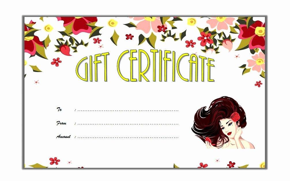 Hair Salon Gift Certificate Template Elegant Free Beauty Salon Gift Voucher Template Gift Ideas