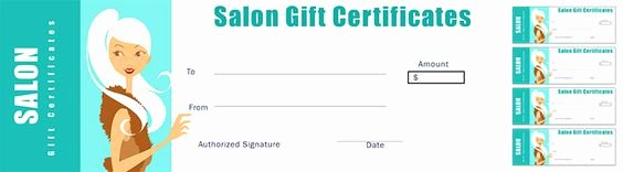 Hair Salon Gift Certificate Template Fresh Free Salon Gift Certificate Template for Nail Salon Hair Salons and Beauty Salons to Offer A