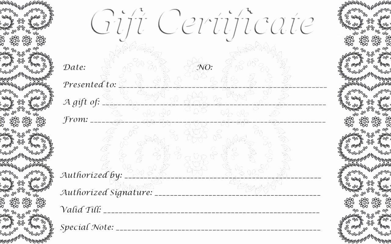 Hair Salon Gift Certificate Template Inspirational 28 Cool Printable Gift Certificates