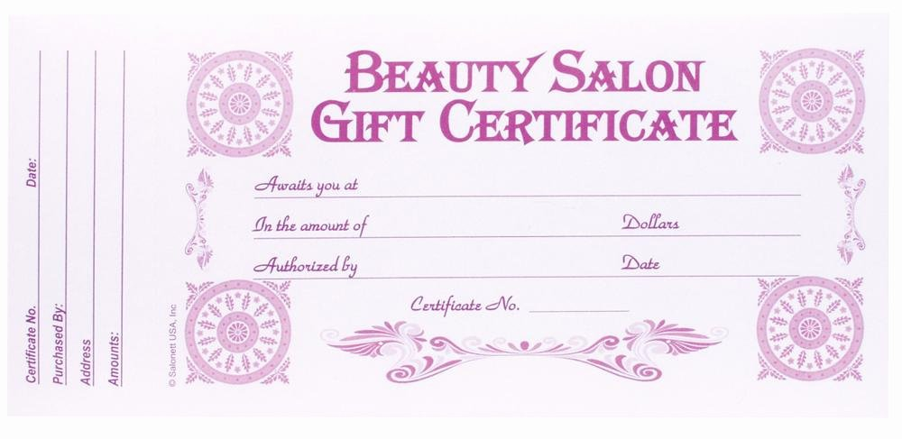 Hair Salon Gift Certificate Template Luxury Berkeley Beauty Pany Inc Beauty Salon Gift Certificate 313