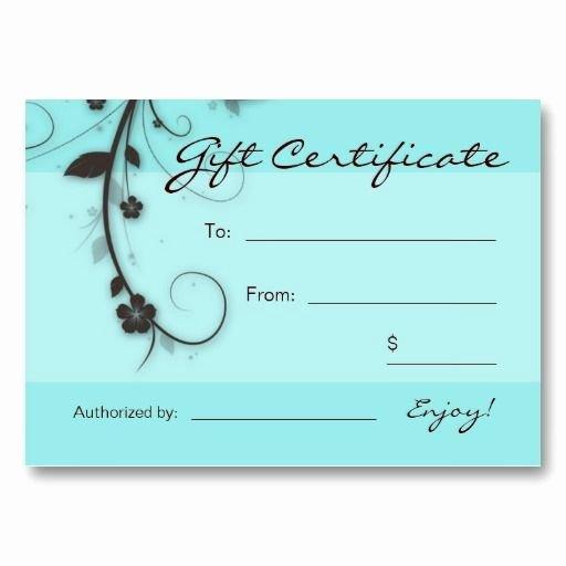 Hair Salon Gift Certificate Template New 25 Best Gift Certificate Templates Images On Pinterest