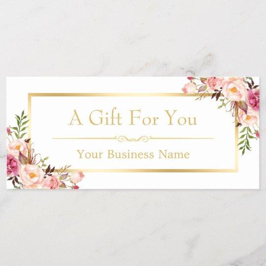Hair Salon Gift Certificate Template Unique Chic Floral Gold Beauty Salon Gift Certificate