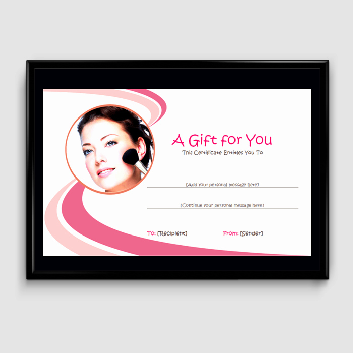 Hair Salon Gift Certificate Template Unique Gift Certificate Template 6 Fillable Certificate formats for Word