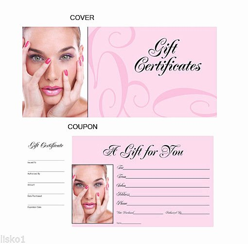 Hair Salon Gift Certificate Unique Hair Salon Gift Certificates Book Numbered From 1 50