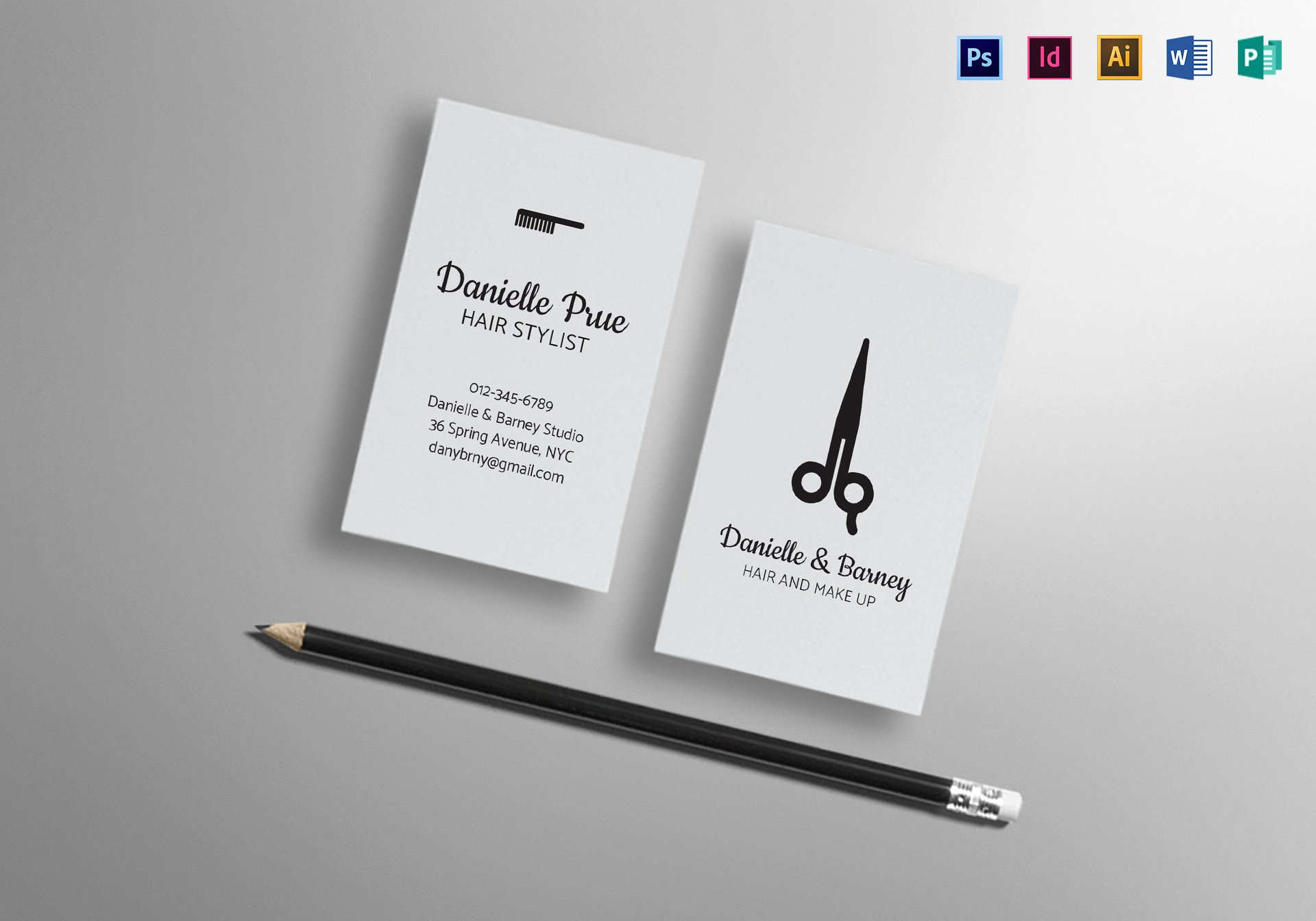 Hair Stylist Business Card Awesome Hair Stylist Business Card Design Template In Psd Word Publisher Illustrator Indesign
