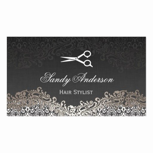 Hair Stylist Business Card Elegant Elegant Silver Damask Hair Stylist Appointment Pack Standard Business Cards