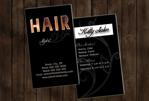 Hair Stylist Business Cards Luxury Freebies 5 Free Hair Stylist Business Cards