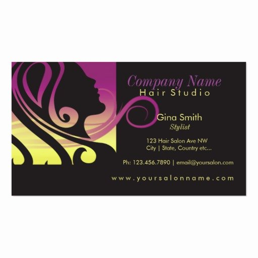 Hair Stylist Business Cards New Hair Salon Business Card