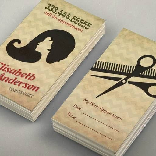 Hair Stylist Business Cards Templates Best Of Hairstylist Beauty Salon Appointment Reminder Card Business Card Template