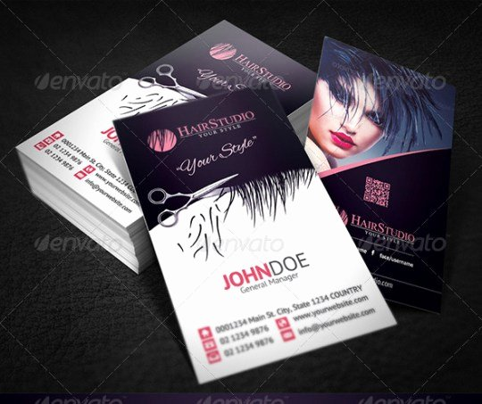 Hair Stylist Business Cards Templates New 25 Hair Stylist Business Card Design Inspiration Smashfreakz