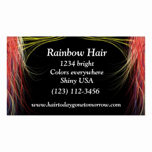 Hair Stylist Business Cards Templates Unique Rainbow Hair Stylist Cards Double Sided Standard Business Cards Pack Of 100