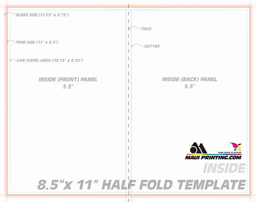 Half Page Flyer Template Free Beautiful Maui Printing Pany Inc 8 5 X 11 Half Fold Brochure