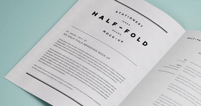 Half Page Flyer Template Free Best Of Psd A3 Half Fold Mock Up Psd Mock Up Templates