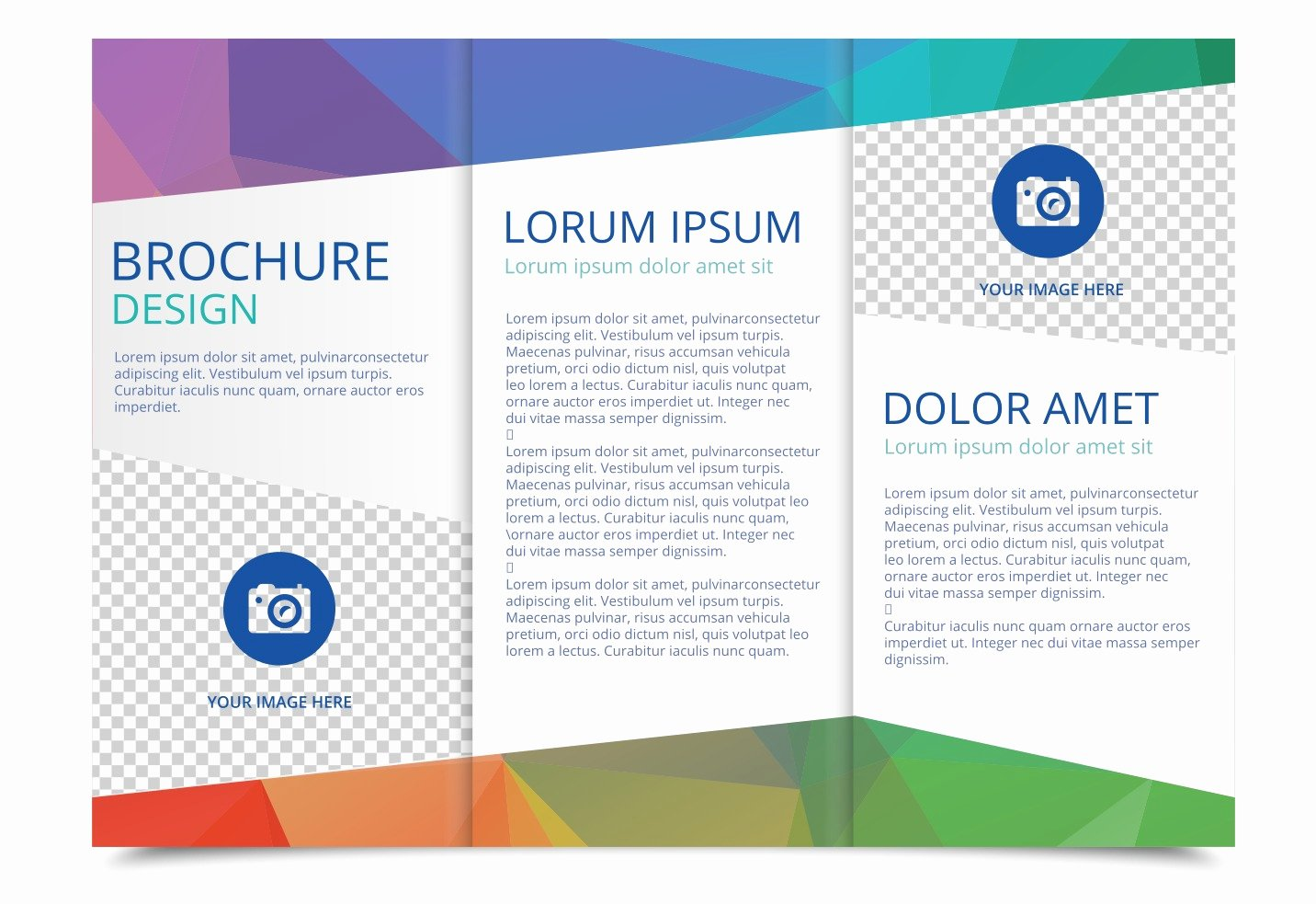 Half Page Flyer Template Free Elegant Free Tri Fold Brochure Vector Template Download Free Vector Art Stock Graphics &