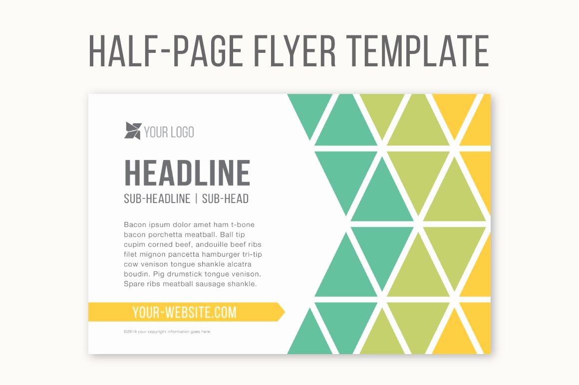 Half Page Flyer Template Free Elegant Half Page Flyer Template Templates Creative Market