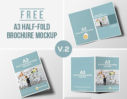 best free brochure design mockup psd templates