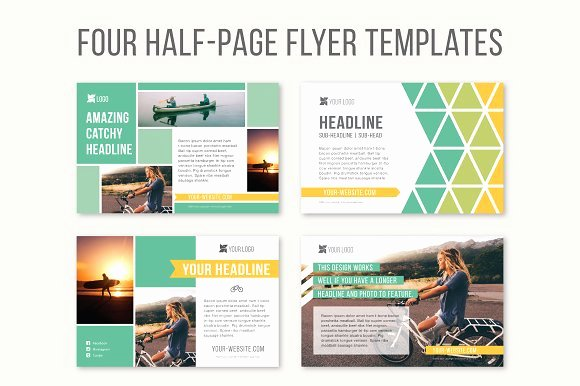 Half Page Flyer Template Free Luxury Four Half Page Flyer Templates Templates On Creative Market