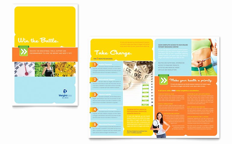 Half Page Flyer Template Free New Weight Loss Clinic Brochure Template Word & Publisher