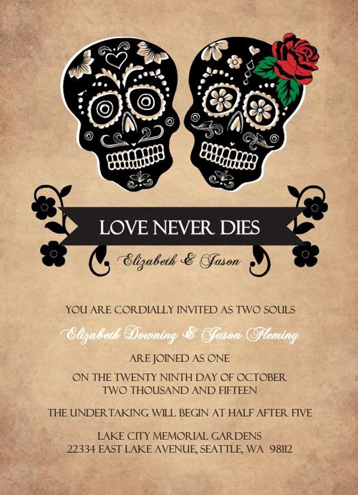 Halloween Wedding Invitation Wording Elegant Printable Halloween Wedding Invitations Ideas and Inspiration