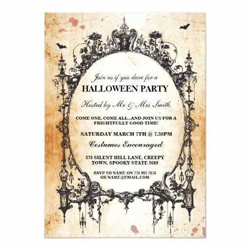 Halloween Wedding Invitation Wording Fresh Halloween Black Gothic Spider Frame Party Invite