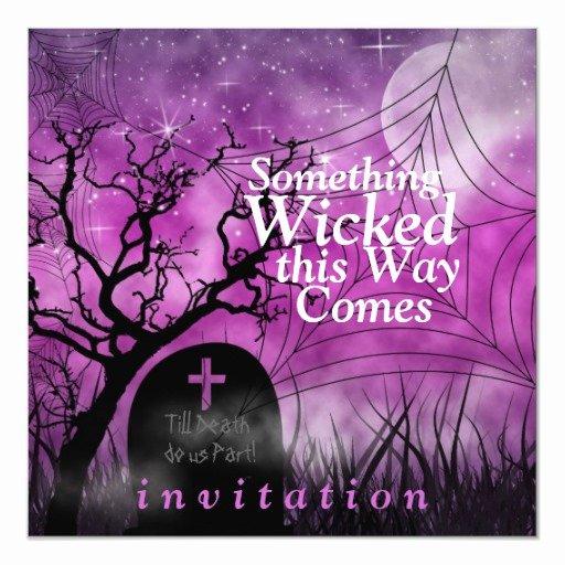 Halloween Wedding Invitation Wording Fresh Wicked Fun Halloween Wedding Invitation