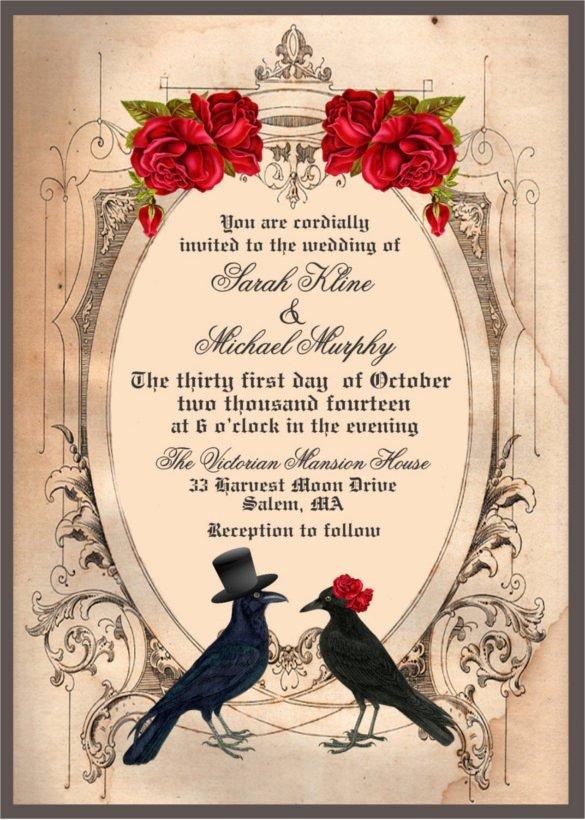 Halloween Wedding Invitation Wording Inspirational 22 Halloween Wedding Invitation Templates – Free Psd Ai format Download