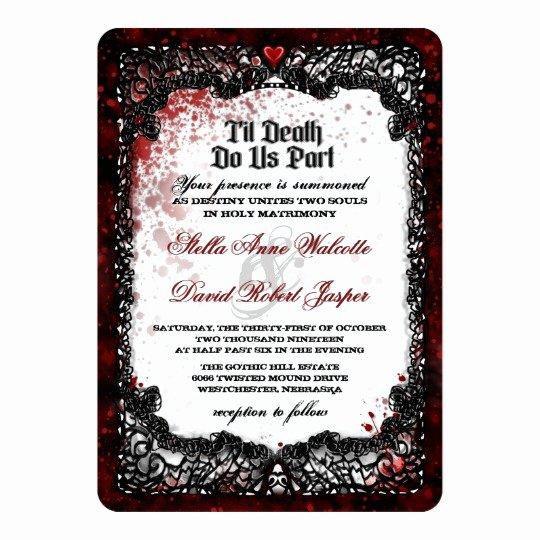 Halloween Wedding Invitation Wording Luxury Blood Splattered Halloween Wedding Invitation