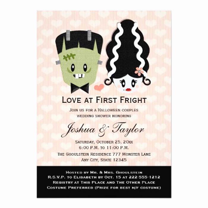 printable halloween wedding invitations
