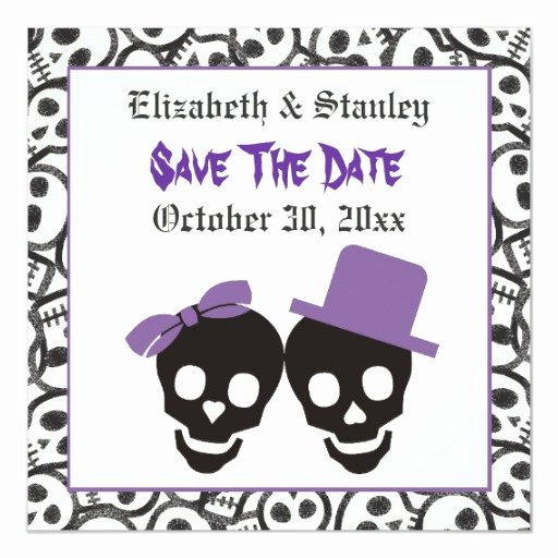 Halloween Wedding Save the Date Best Of Elegant Skulls Halloween Wedding Save the Date Invitation
