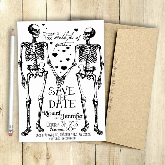 Halloween Wedding Save the Date Best Of Halloween Save the Date Printable Invitation Engagement