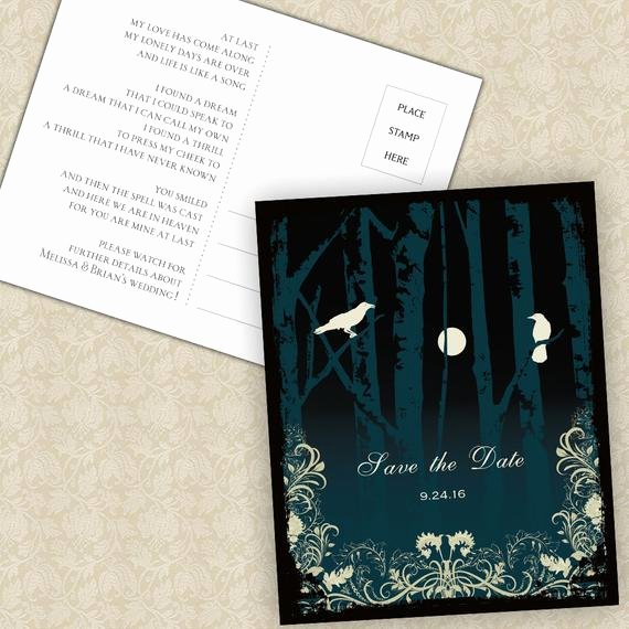 Halloween Wedding Save the Date Best Of Halloween Wedding Save the Date Cards Elegant Gothic Wedding