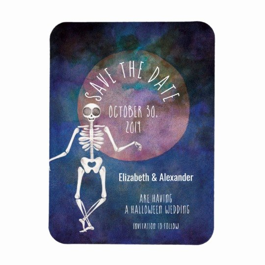 Halloween Wedding Save the Date Elegant Skeleton In the Mirror Halloween Invitation