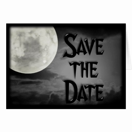 Halloween Wedding Save the Date Fresh Gothic Halloween Save the Date Wedding Invitations Card