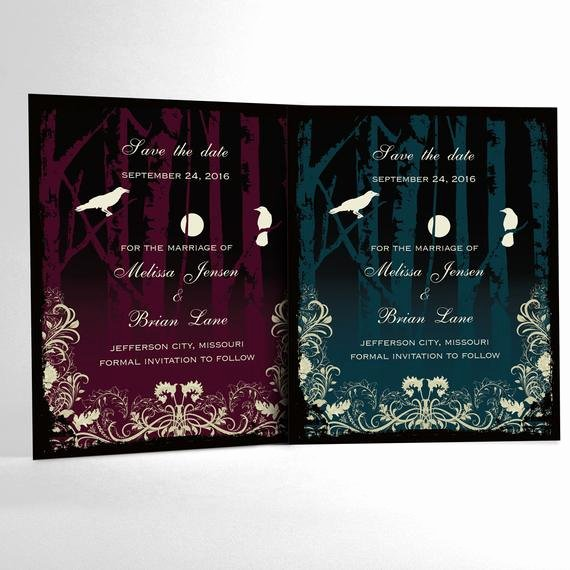 Halloween Wedding Save the Date Inspirational Halloween Wedding Save the Date Cards Elegant Gothic Wedding
