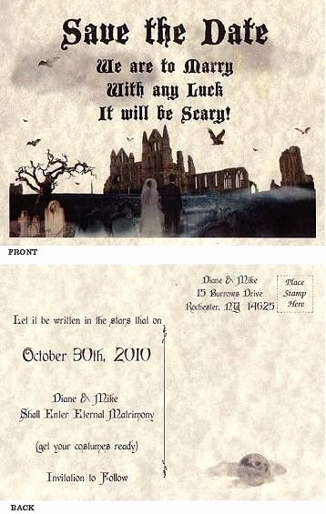 Halloween Wedding Save the Date Luxury 1000 Ideas About Halloween Wedding Favors On Pinterest