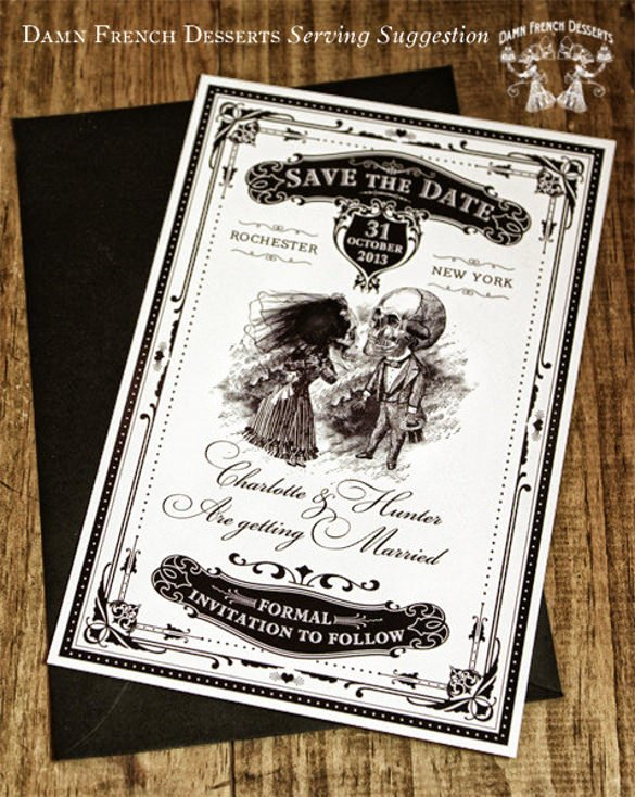 Halloween Wedding Save the Date Luxury 22 Halloween Wedding Invitation Templates – Free Psd Ai format Download