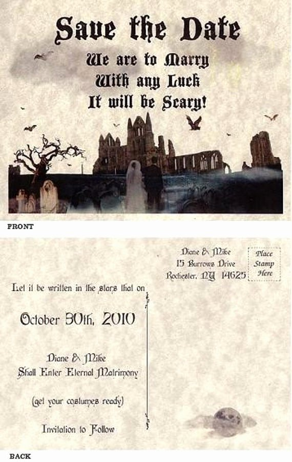 Halloween Wedding Save the Date New Qty 75 Halloween Party Gothic Wedding Favors Save the Date