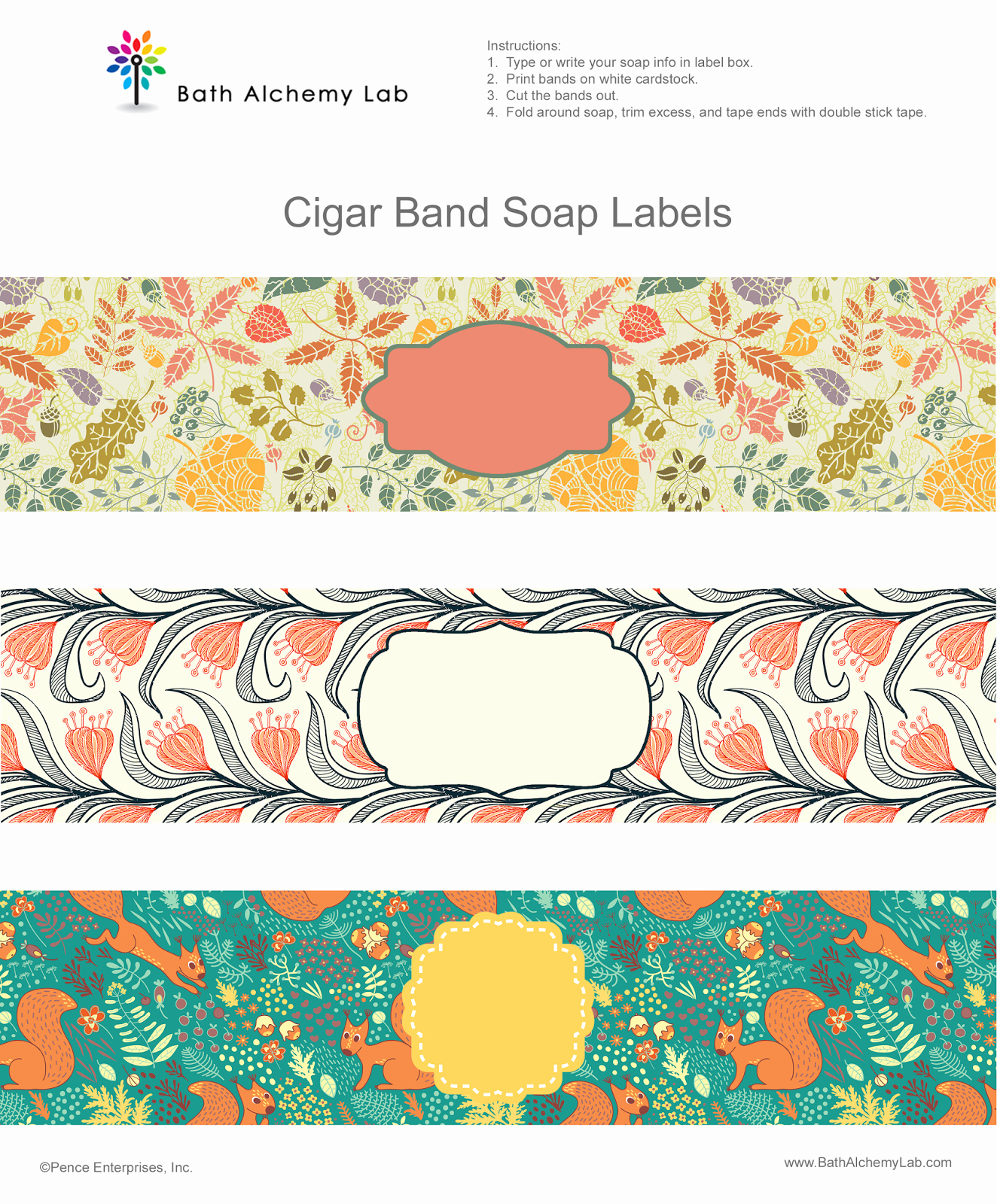 Handmade soap Label Template Awesome Free soap Cigar Band soap Wrappers Printables Making soap