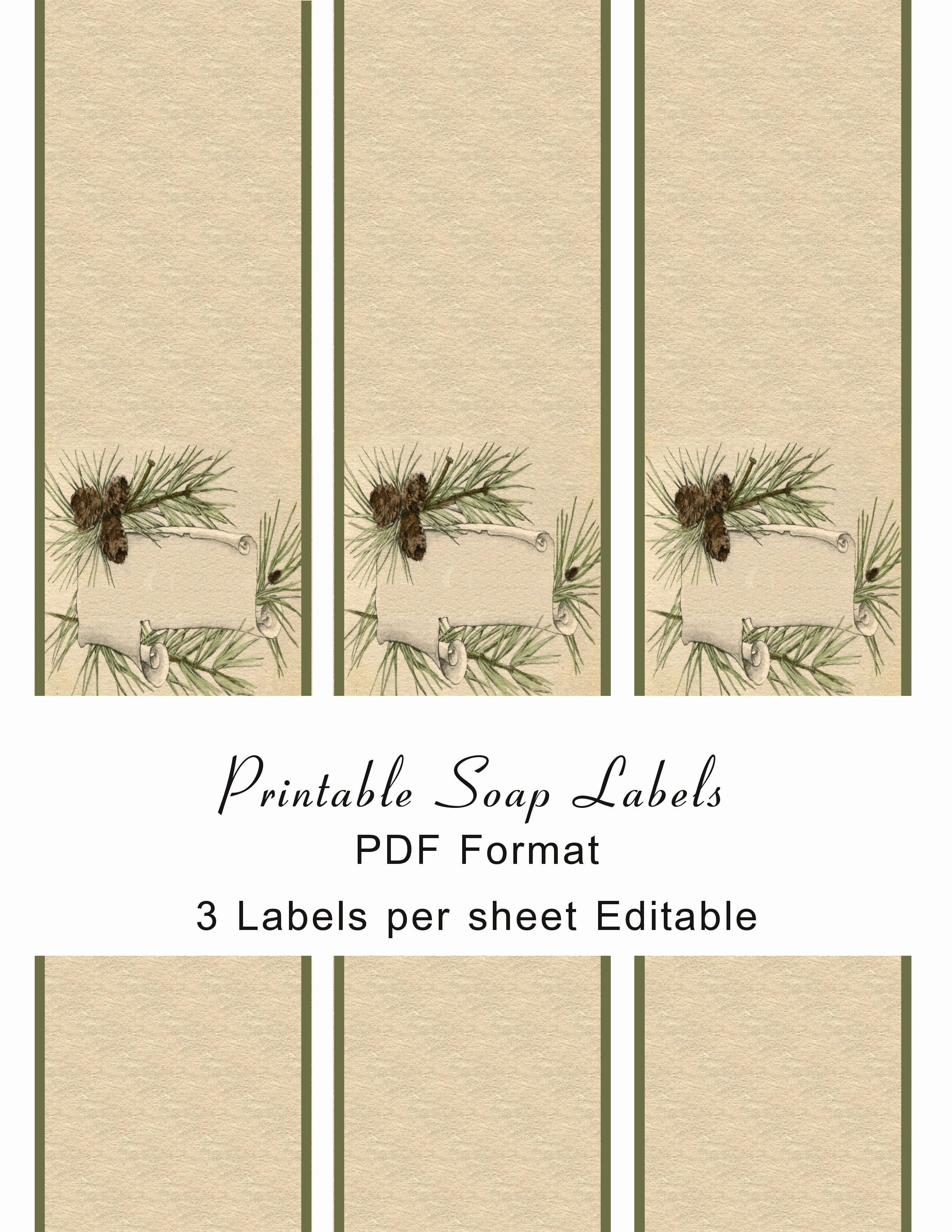 Handmade soap Label Template Best Of Printable soap Labels soap