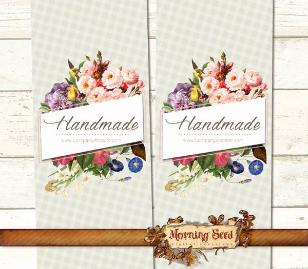 Handmade soap Label Template Elegant Handmade soap Label Template