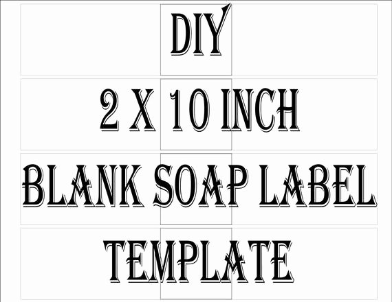 "Handmade soap Label Template Fresh soap Label Template Printable 4 Files 4 Diy 2 X 10"" Blank Svg Editable Sheets Handmade Product"