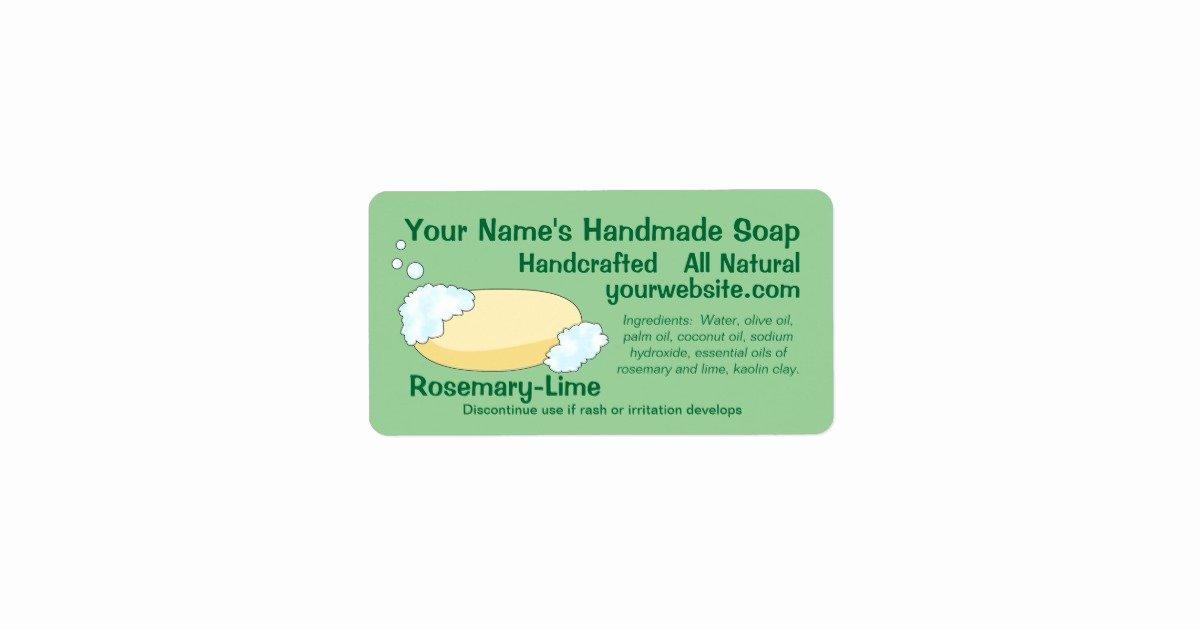 Handmade soap Label Template Inspirational Customizable Handmade soap Label Template