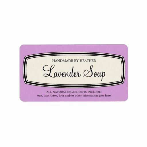 Handmade soap Label Template Inspirational Vintage Border Handmade soap Label Template Address Label