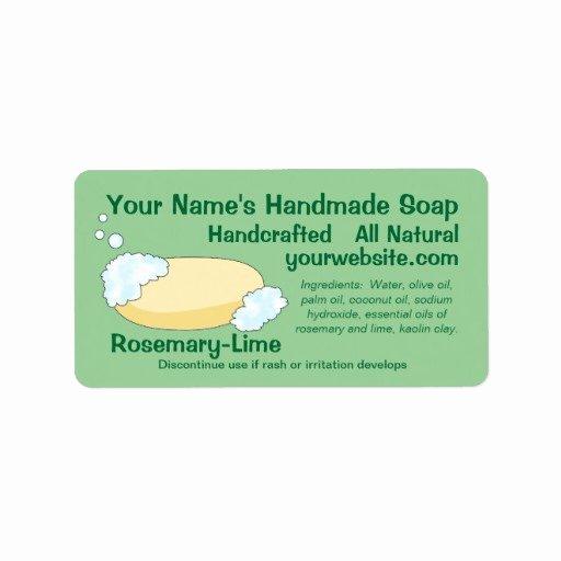 Handmade soap Label Template Unique Customizable Handmade soap Label Template