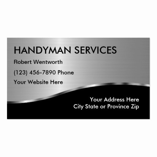 Handy Man Business Cards Awesome Simple Handyman Business Cards