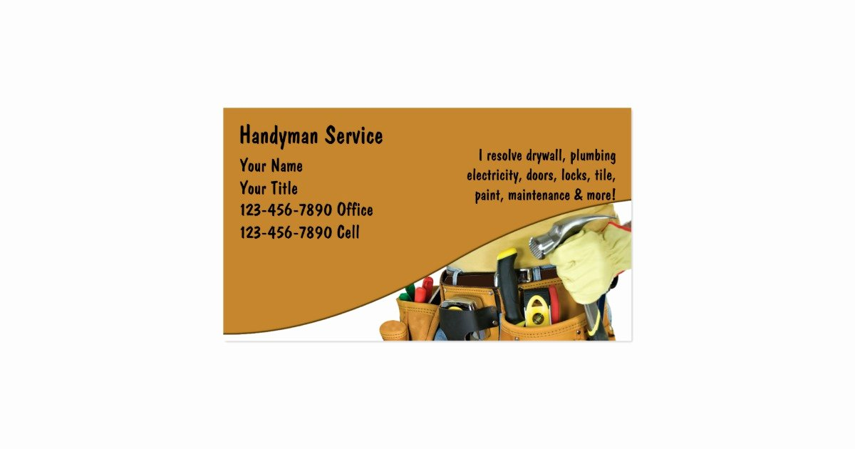 Handy Man Business Cards Best Of Handyman Business Cards