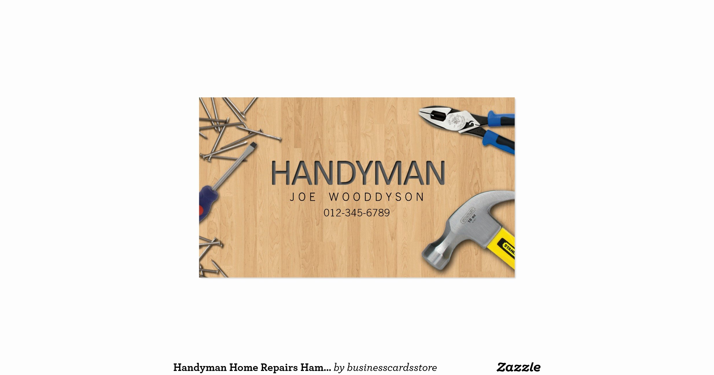Handy Man Business Cards Inspirational Handyman Business Card Home Repairs